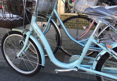 またぎやすい自転車 展示してます。
